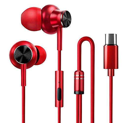 USB Type-C oordopjes in-Ear Stereo Bass Noise Canceling Hoofdtelefoon met Microfoon Compatibel met type-c telefoon als Google Pixel 2/3/4/2xl/3xl/4XL, Huawei, HTC, Essentiële Telefoon ect