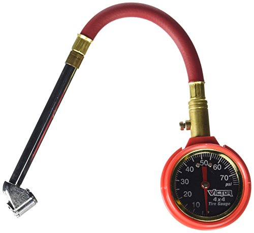 Victor 22-5-00874-8 Dial Tire Gauge with Hose, Multi, One Size