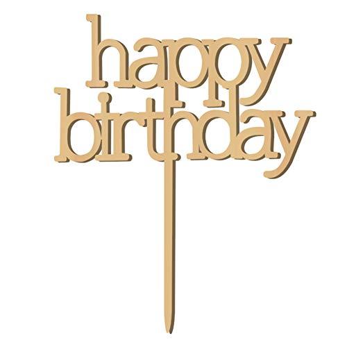 Verjaardagstaart topper, alles goed voor verjaardagstaart topper, houten taart decoreren accessoires voor doe-het-zelvers