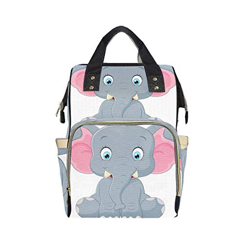 Heavy Big Giant Elephant Travel Nappy Bag Mom Dad Changing Large Capacity Multi-function Compact Backpack Diaper Bag For Baby Girl Boy