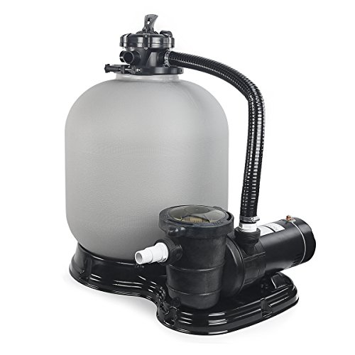 4500GPH 19' Sand Filter w/ 1HP Above Ground Swimming Pool Pump