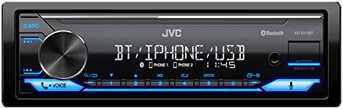 JVC KD-X372BT Récepteur multimédia numérique avec kit Mains-Libres BT (Alexa intégré, Haute-Performance, processeur sonore, USB, AUX, Spotify Control 4 x 50 W, éclairage des Touches (Bleu)
