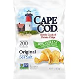Cape Cod Potato Chips, Less Fat Original Kettle Cooked Chips, 1.5 Oz (Pack of 56)