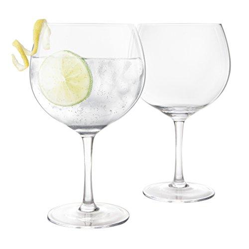 Final Touch 100% bleifreies Kristall groß Copa Gin und Tonic Gläser Ballon Glas Made mit durashield Titan verstärkt für erhöhte Beständigkeit G & T Gläser-Set 400ml–Pack von 2