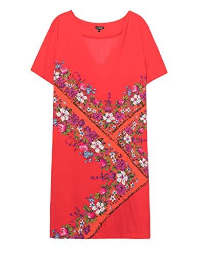 Desigual Dress Damis Vestido, Rojo (Rojo Clavel 3036), 44 para Mujer