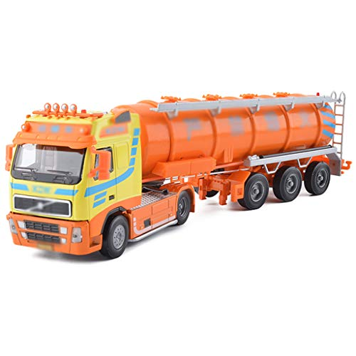 SXET Model Car Children's Toy Car Oil Tank Truck Toy Model Simulation Alloy Car Model Engineering Vehicle Model Kids Gift