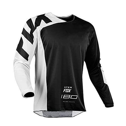 Fox Bike Jersey Mountain Cycling Short MTB Mens Cycling Jersey Shirts Road Bike Jersey Motocross Downhill Vtt MX Summer T-Shirt-5Xl