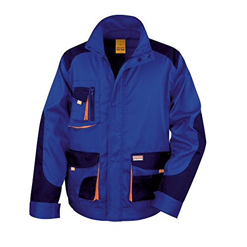 Result Herren Work-Guard Lite Arbeitsjacke (S) (Royal/Marineblau/Orange)