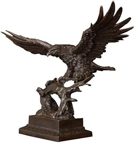 Escultura,Estatua Adornos Esculturas Decoración Antigua para El Hogar Decoración Fundición Arte De Metal Fusión De Bronce Famoso Animal Escultura De Águila Figuras