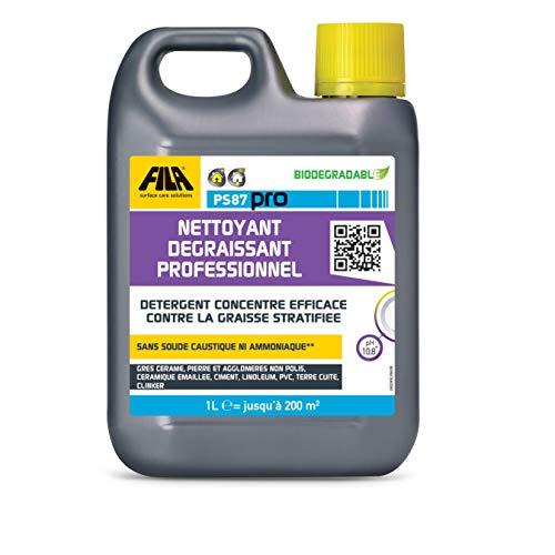 FILA Surface Care Solutions PS87 PRO Limpiador desengrasante profesional: Detergente concentrado eficaz contra la grasa estratificada