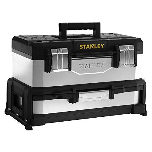 Stanley 1-95-830 Boîte à outils à tiroir bi-matière galvanisée 51 cm