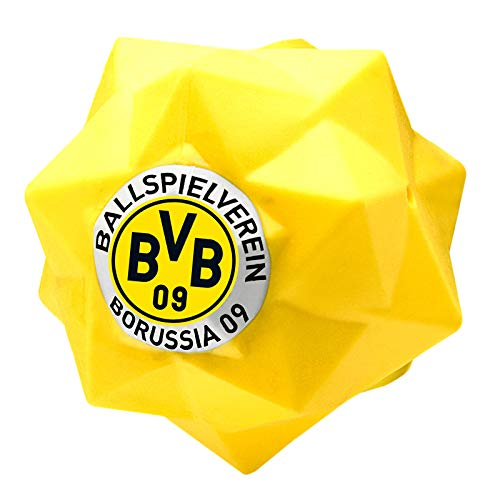 BELLOMANIA BVB-Fun-Ball Hunde-Spielball aus Thermoplastisches Gummi Futter-Ball Kau-Spielzeug