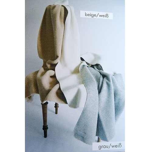 STEINBECK Doubleface-Decke Ökolana aus 100% naturbelassener Schurwolle, in 4 Größen und 3 Farben, Grau/Weiß Größe 150x220 cm