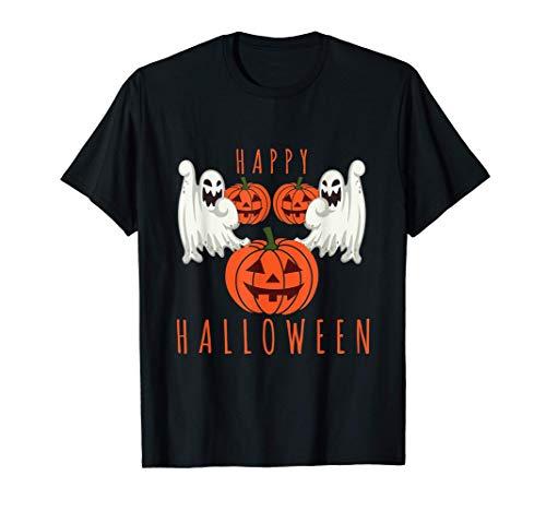 Camiseta de Halloween Fantasmas aterradores Calabaza Camiseta