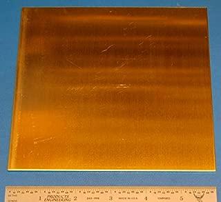 """Brass (Alloy 260) Sheet, 0.064"""" (1.6mm), 6x6"""""""