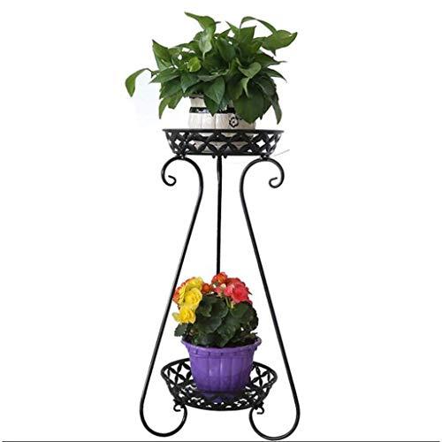 DX Supports de Fer Art Flowerpot, étagère de Plancher de Conception élégante, Support de Fleur d'affichage d'affichage décoratif de Jardin de Plante de Patio d'extérieur Bonsai HUA0424J (couleu