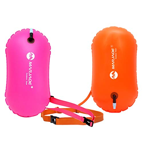 SM SunniMix 2Pcs Swim Bubble Sicherheit Wasserboje Float Für Schwimmer Triathletes Schnorchler