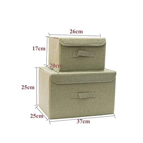 Cube storage box geborduurd katoen wasmand cartoon voor ladekast deur de compartimenten Organizer,Green 1 september