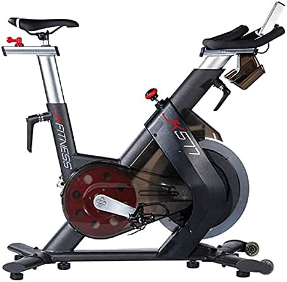 jk fitness cyclette bici da spinning  32 livelli di resistenza gestita elettronicamente jk 577