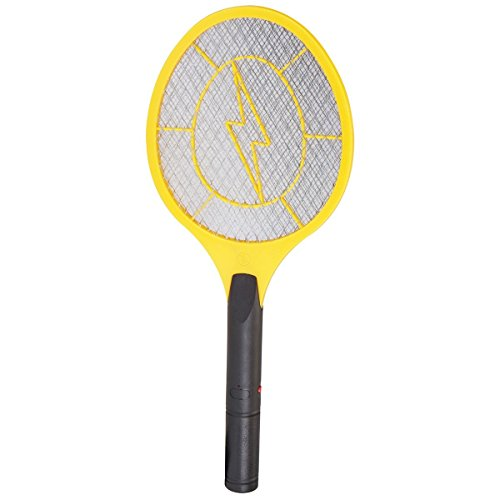 Electronic Fly Swatter, Indoor or Outdoor Use, DC Charge Kills Bugs Instantly
