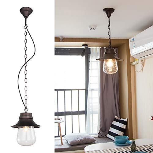BETLING Lámpara de Techo Colgante Vintage E27 Industrial Metal Pantallas de Iluminación...