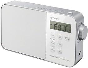 Sony ICF-M780SL - Radio portátil (FM/SW/MW/LW, Pantalla LED), Blanco