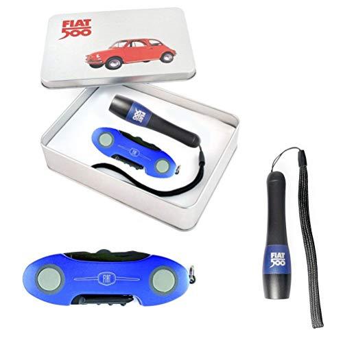 Coffret couteau multifonctions et torche Fiat 500