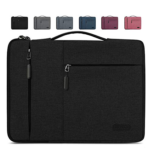 "Lubardy Custodia PC 13-14 Pollici Impermeabile Antiurto Borsa Porta PC per Macbook Air/Pro 13-13,3 ""Nera"
