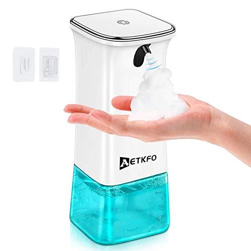 AETKFO Dispenser Sapone Automatico, Dispenser di Sapone Infrarossi Erogatore di Sapone Schiumogeno Distributore di Sapone Elettrico Liquido di Erogatore Touchless per Cucina Bagno, 280ml