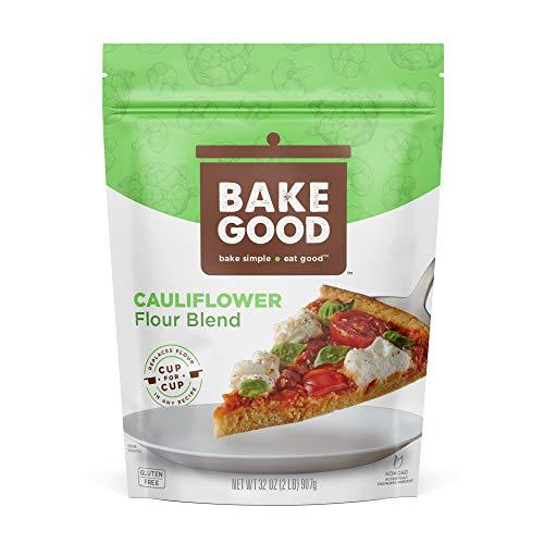 BakeGood Cauliflower Flour Blend, 2lb, 1-to-1 Replacement for All Purpose Flour, Gluten Free, Non-GMO, Kosher