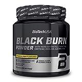 BioTechUSA Black Burn bebida en polvo con extractos vegetales, L-carnitina, colina, inositol, CLA, HCA, aminoácidos, vitaminas y minerales, 210 g, Passion fruit