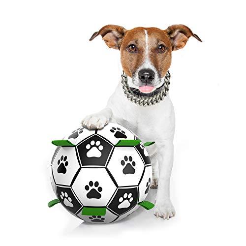 Pelota de Juguete para Perros,Seguro y Amigable com el Medio Ambiente,Juguete Interactivo Resistente al Agua y Desgastes,Juguete para Perros pequeños y medianos Pelota de Entrenamiento interactiva