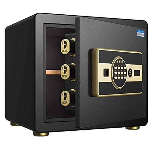 Cajas fuertes para gabinetes, caja fuerte, mesita de noche invisible pequeña para el hogar, cajas fuertes inteligentes con contraseña con huella dactilar, caja fuerte pequeña Caja de seguridad de 30 c