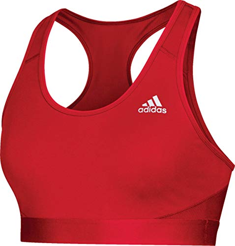 adidas Training Alphaskin Sport Bra, Power Red, Small