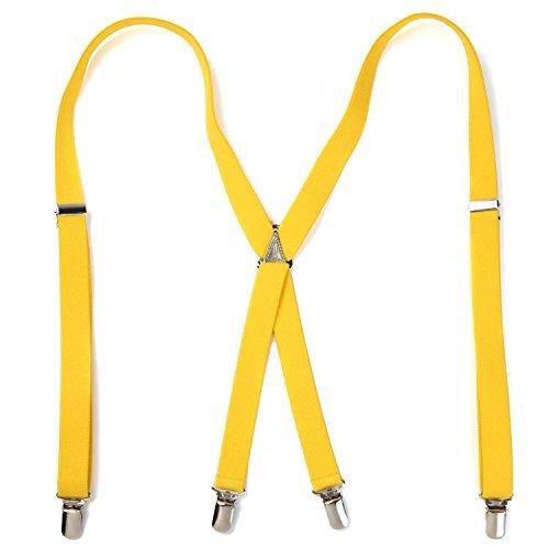 [ピース工房] Peace工房 サスペンダー X型 無地 2cm幅 黄色 Sサイズ