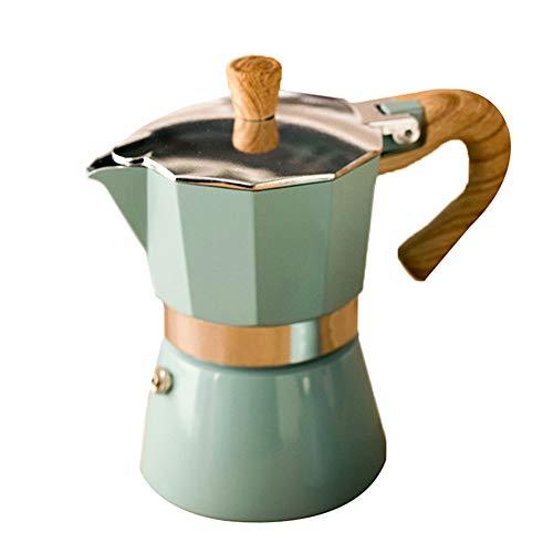 Susian Cafetera Tetera para café expreso, cafetera Italiana Moka Espresso de Aluminio, cafetera, Estufa, Olla Superior para Cocina, Oficina en casa, 150/300 ml