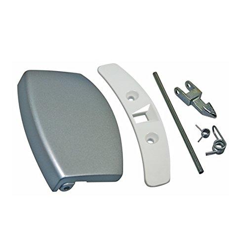 Türgriff Griff silber Kit Waschmaschine Waschgerät Original AEG Electrolux 4055085551 passend Fors Husqvarna Novamatic Zanker wasl3e102 wa1651 l7685 l7495 l54849 lr2851 lr1851 lb3850 ewf1880 l88820