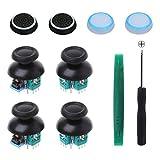 Onyehn 4pcs Analog 3D Joystick Thumbstick Wireless Controller Rocker Sensor Replacement fit for Sony...