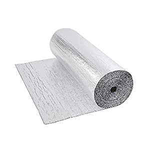 Trueshopping Biard Rollo Aislante Térmico de Aluminio Capa Doble Burbujas – 1,2 m x 5 m (6 m2) Ideal para Buhardilla Desván Paredes Caravanas y Áticos– 300 g por m2