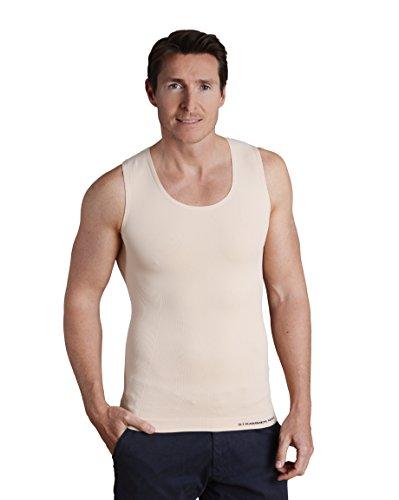 Strammer Max Tanktop Funktionsshirt, atmungsaktives Kompressionshirt (hochwertiges Meryl Skinlife Gewebe), Farbe: Nude (L)