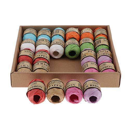 kowaku Insgesamt 240 M Raffia Papierbandschnur für Geflochtene Geschenkverpackungen - flaches Band