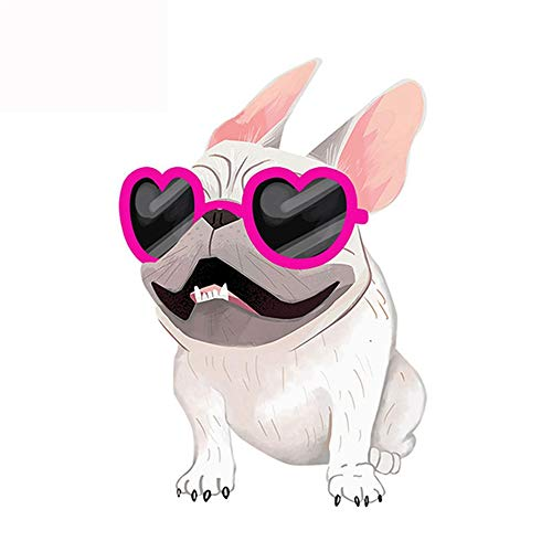 13cm x 8.9cm Fashion French Bulldog Cream Sticker Car Window Decal Cartoon Car Stickers Accessories Car Sticker
