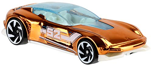 Hot Wheels 2020 Pearl and Chrome Muscle Speeder, \'32 Ford Fast-Bed Hauler, \'55 Chevy Bel Air Gasser, \'68 Corvette Gas Monkey Garage, Volkswagen T2 Pickup, Gazella GT (Chase) - Juego completo de 7