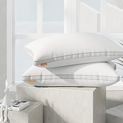 Sweetnight Pillows Pack of 2 Support Bed Pillows-100 Percent Cotton Fabric...