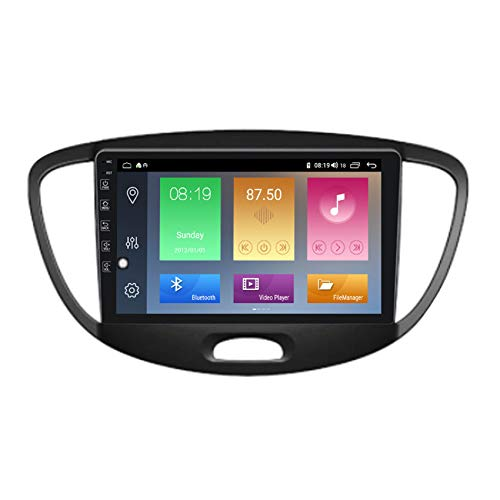 ADMLZQQ Autoradio Android Lettore Stereo GPS Navi HD Touchscreen per Hyundai I10 2007-2013 2 DIN per Auto FM/AM/RDS(PX6) Collegamento Specchio Incorporato carplay(M300/PX6),M300,3+32G