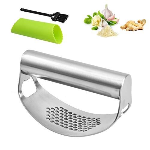 jinhuaxin garlic press spremi aglio pressa rapida per aglio sbucciatrice per aglio spazzola per la pulizia della superficie arco manuale pressa per schiaccia aglio set