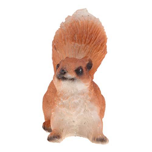 Eichhörnchen Dekofigur Figuren Puppenzubehör Deko Garten - Liegen