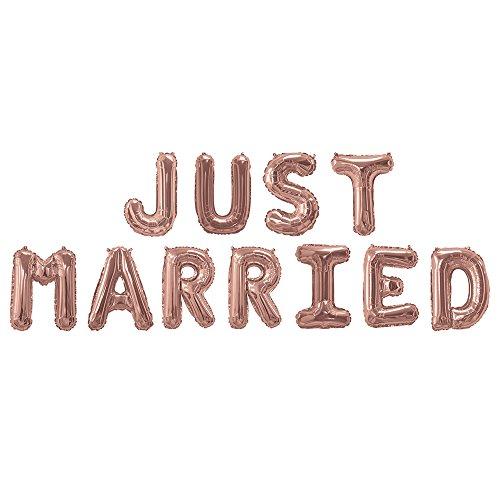 Folie ballonnen - Rose Gold - JUST MARRIED