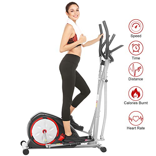 ANCHEER Elliptical Machine, Quiet & Smooth, Magnetic Elliptical Cross Trainer Machine with...