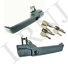 LAND ROVER DEFENDER 90 110 1987-2001 FRONT LH RH PUSH BUTTON DOOR HANDLE & LOCK SET PART: MXC7651 & MXC7652 / MTC6504